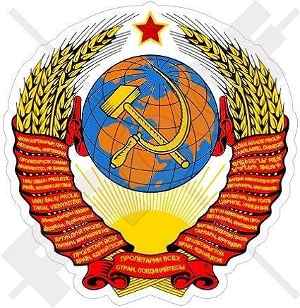 Sowjetunion Wappen Abzeichen Kamm Ussr Russland Cccp 93mm Auto Motorrad Aufkleber Vinyl Sticker Garten
