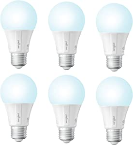 Sengled Smart Light Bulb, Smart Bulbs That Work with Alexa, Google Home (Smart Hub Required), Smart Bulb A19 Alexa Light Bulbs, Smart LED Daylight (5000K), 800LM, 9W (60w Equivalent), 6 Pack