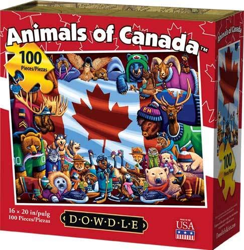 (Dowdle Jigsaw Puzzle - Animals of Canada - 100 Piece)