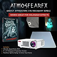 Atmosfearfx Ghostly Apparitions Windows FX DVD and 3000 Lumen Video Projector Bundle and a Flash Drive.