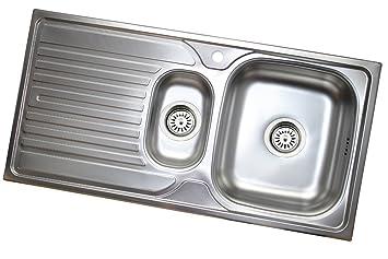 50CM Edelstahl Einbauspüle Spüle Ablage Spülbecken Edelstahlspüle Küchenspüle