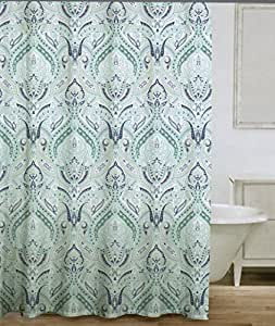 Amazon Com 100 Cotton Shower Curtain Turquoise Aqua