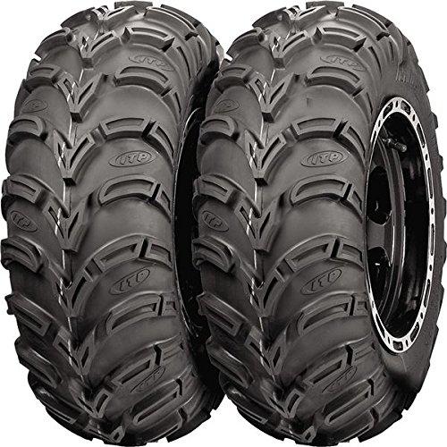 Pair of ITP Mud Lite (6ply) ATV Tires 24x9-11 (2) Powersports Bundle