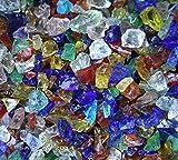 FGSD Rainbow Mix Fireglass Fireplace Fire Pit Glass ~3/8-1/2″, 10 LBS For Sale
