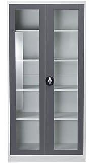 2 door bookcase - Bookshelves Glass Doors
