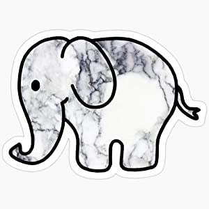 BeliNZStore Elephant with Marble Fill Stickers (3 Pcs/Pack)