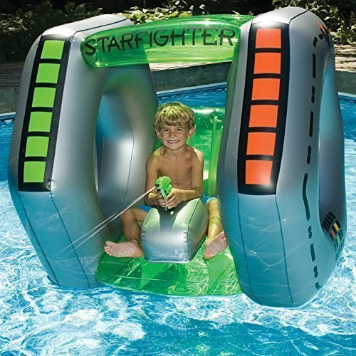 (Kids Pool toys starfighter Super Squirter Inflatable Pool Toy ( Dimension : 43 in. H x 46 in. L x 45 in. W ))