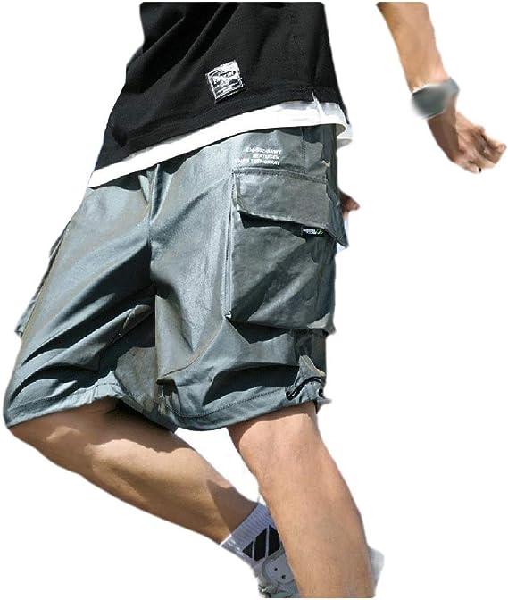 sayahe 男性ショートドローストリング夏マルチポケットファッションエアソフトパンツ