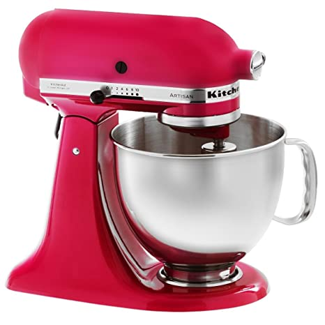 KitchenAid 5KSM150PSERI Artisan - Batidora amasadora, color rosa