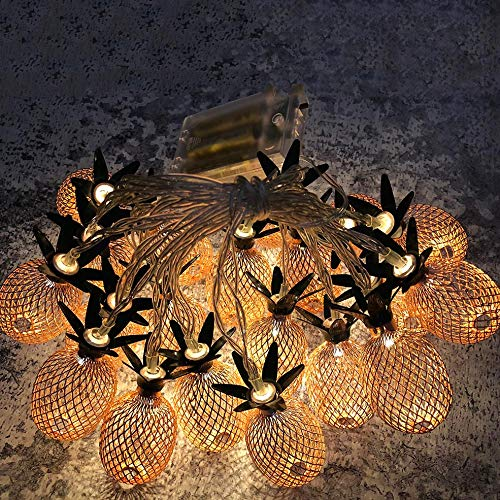 Pineapple Led Lights, QHJ Christmas Lamp Decorations Xmas Party Home Decor (Rose gold)