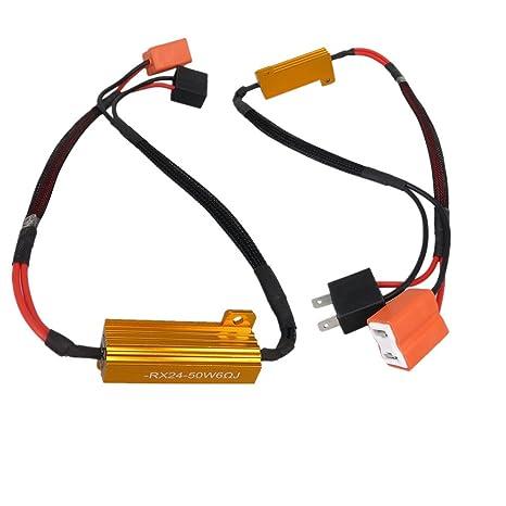 WLJH 2pcs 9005 9006 H7 H8 50 W 6ohm Led resistencias de carga para led Turn ...