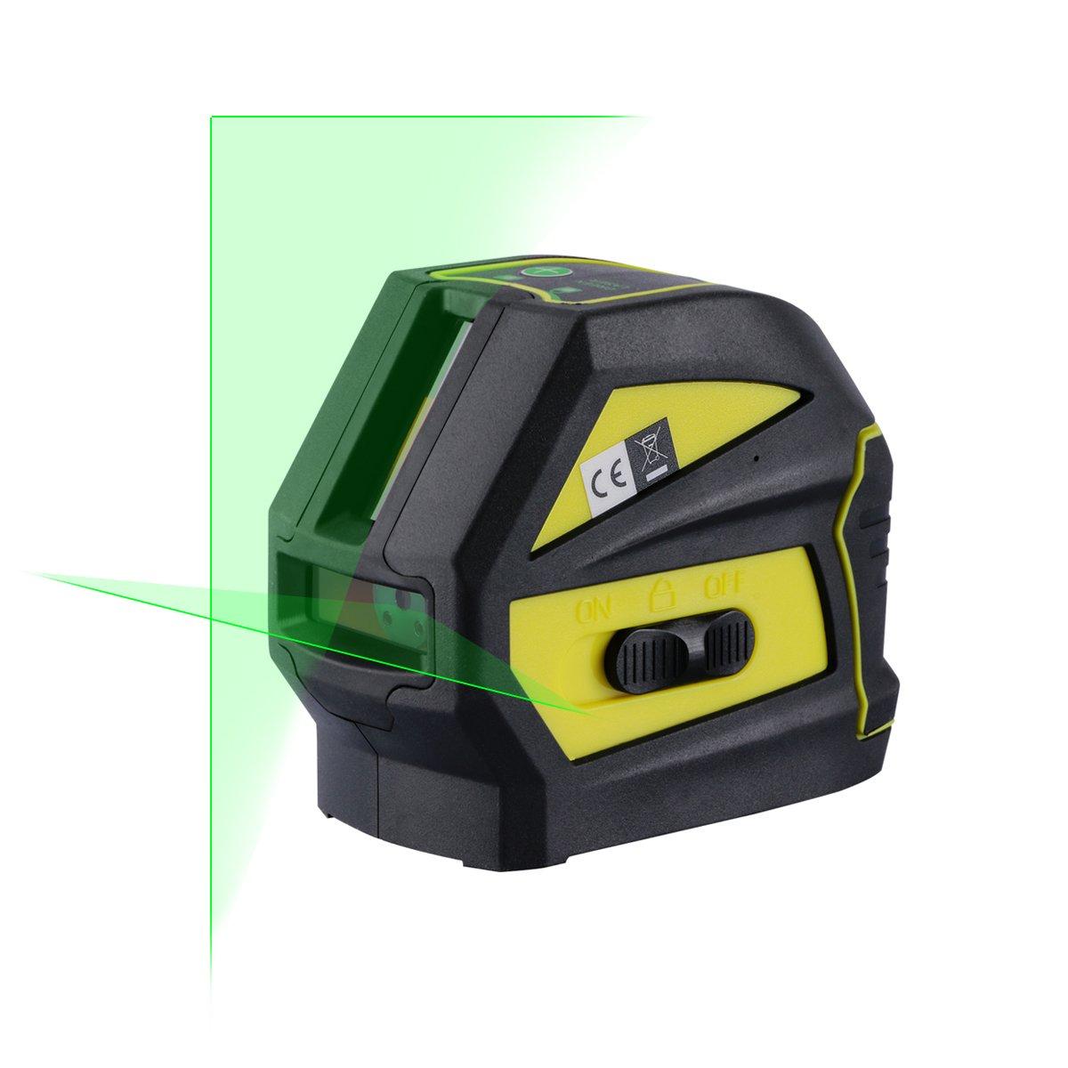 Firecore Profesional Nivel láser de línea Cruz verde líneas autonivelante herramientas