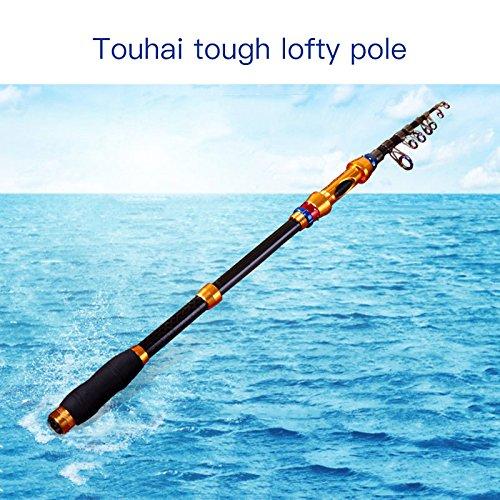 Forfar 1pc telescópica de carbono Agua salada Pesca Rod extensible polos Tackle Gear Herramienta de viaje 2,1/3.0m, 3