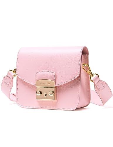 f6060c8e3c3f LA FESTIN Crossbody Bags for Women Small Leather Cute Side Bag Solid Pink