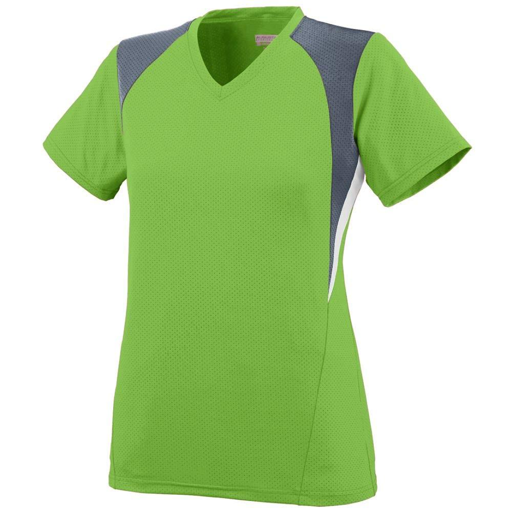 Augusta Sportswear Girls' Mystic Jersey M Lime/Graphite/White