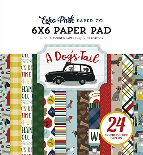 Echo Park Paper Company ADT155023 A Dog's Tail 6x6 Pad Paper, 6-x-6
