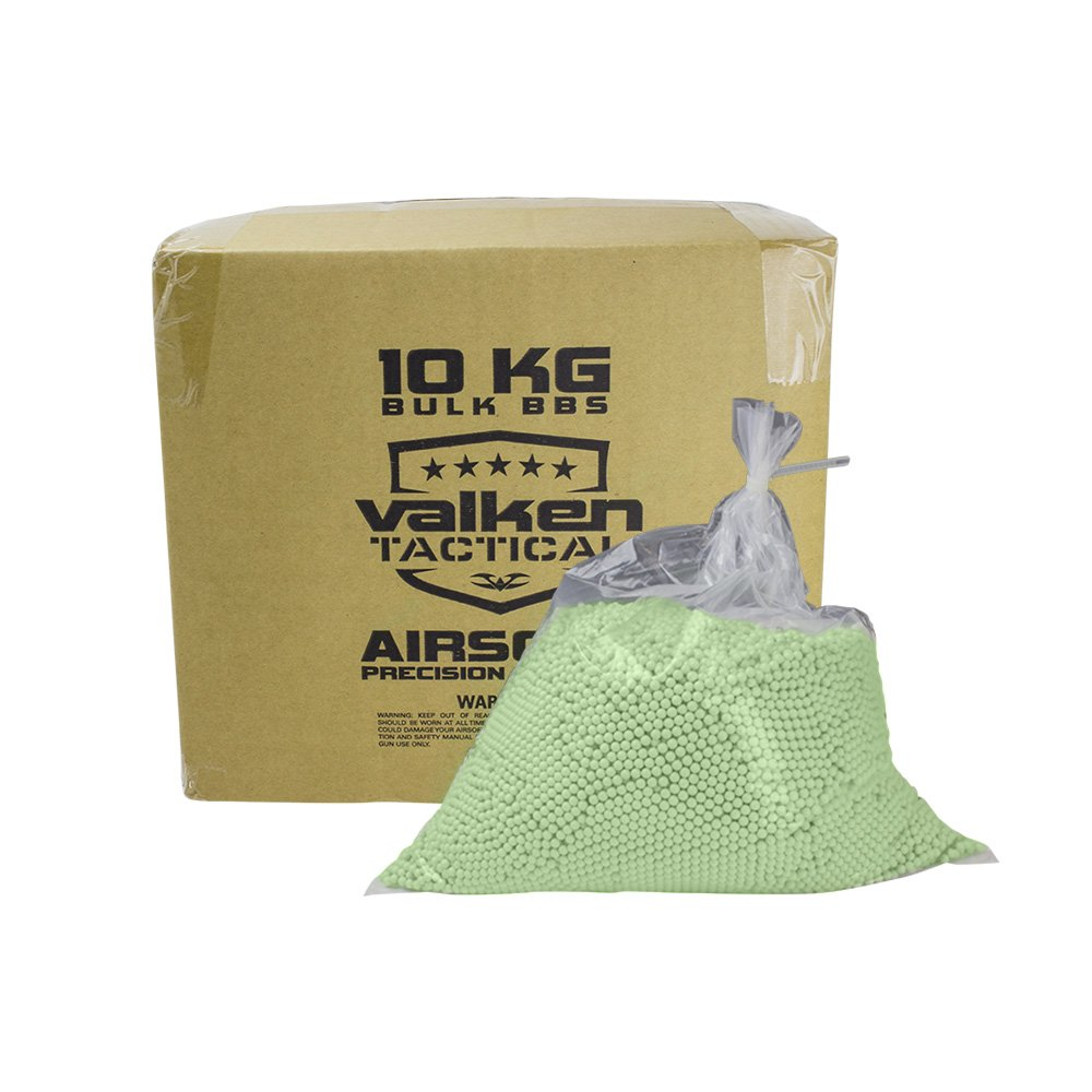 Valken Tactical 0.20G BIO Precision Airsoft BB-10kg Bulk Box-Green by Valken Tactical