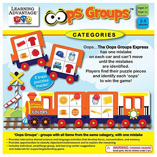 Learning Advantage 2124 Oops Groups - Vowel Short Worksheets