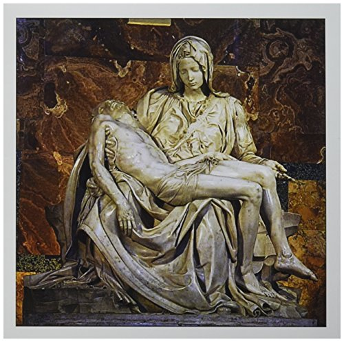 (3dRose Italy, Rome Vatican St Peters Basilica Pieta - EU16 CMI0559 - Cindy Miller Hopkins - Greeting Cards, 6 x 6 inches, set of 6 (gc_82096_1))