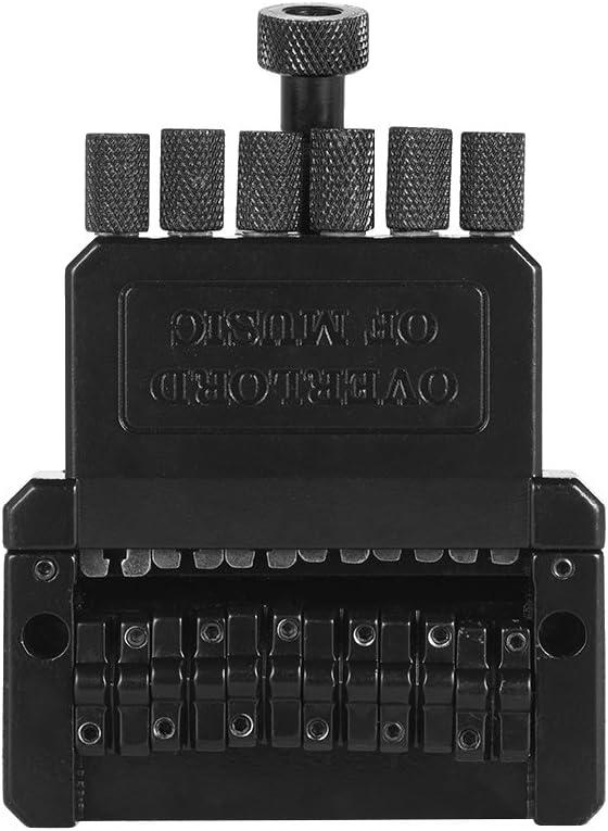 ammoon 6 Cuerdas Guitarra Eléctrica Sistema de Puente de Cola Trémolo para Guitarra sin Cabeza Negro