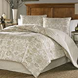 Purple and Gold Duvet Cover Stone Cottage Belvedere Cotton Sateen Duvet Cover Set, Full/Queen, Beige