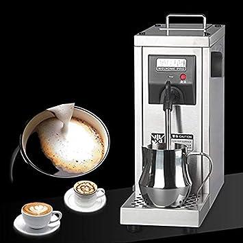 ZGUO Comercial automático Eléctrico espumador de Leche Acero Inoxidable Calentador de café Chocolate Leche de Vapor - Máquina de Burbujas para Latte ...