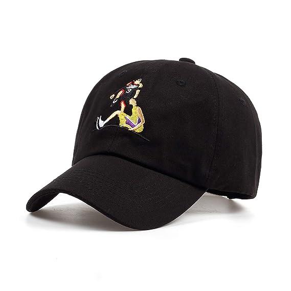 Meaningg Hombres de Las Mujeres Que juegan la Gorra de béisbol del Bordado del Baloncesto Sombreros de la Moda Unisex Algodón Ajustable, Black: Amazon.es: ...