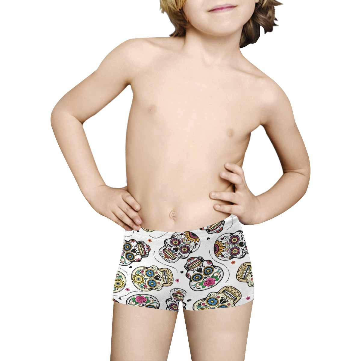 INTERESTPRINT Kids Beautiful Sugar Skulls Comfortable Breathable Briefs 5T-2XL