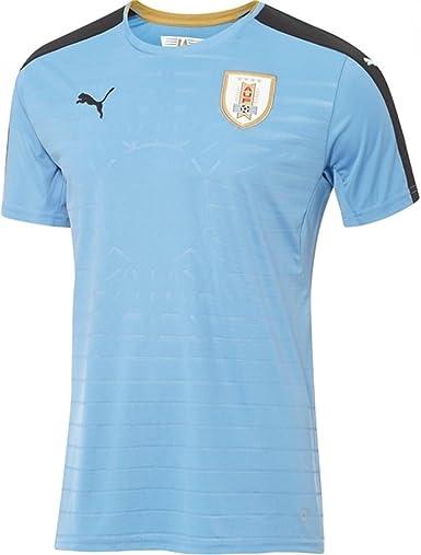PUMA 2016-2017 Uruguay Home Football Soccer T-Shirt Camiseta: Amazon.es: Deportes y aire libre