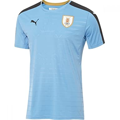 Puma 2016-2017 Uruguay Home Football Soccer T-Shirt Camiseta: Amazon.es: Deportes y aire libre