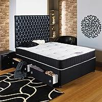 home furnishings uk black chester ortho divan bed, single