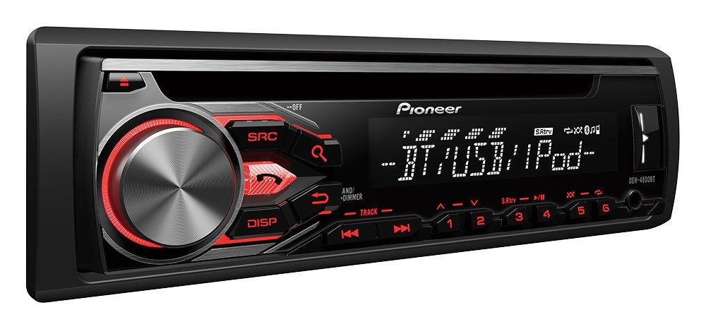 Pioneer DEH-4800BT Radio multifuncional para auto CD con manos libres Bluetooth, incluye micrófono externo, USB y AUX-IN | Operación paralela de 2 teléfonos ...