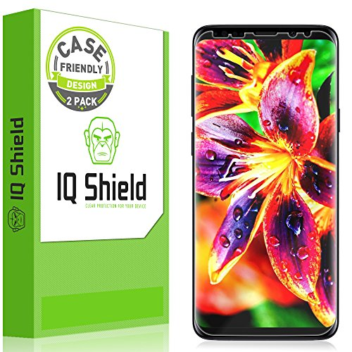 [2-Pack] IQ Shield LiQuidSkin Clear Screen Protector for Galaxy S9 Plus (Updated Design Version 1.5) Bubble Free Film