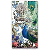 Michel Design Works NAPH295 15-Count 3-Ply Paper Hostess Napkins, Peacock