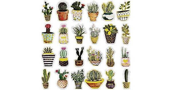 Amazon.com: ANPHSIN 48 pegatinas de acuarela para plantas ...