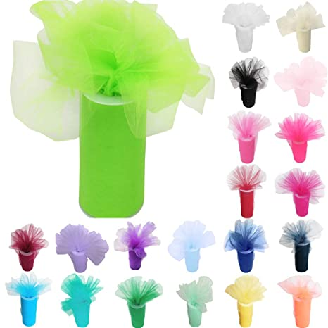 Apple Green Time to Sparkle TtS 6 Inchs x 100yards//300FT Tulle Roll Spool Tutu Party Birthday Wraping Crafts Bridal Bow Skirt Wedding Decor