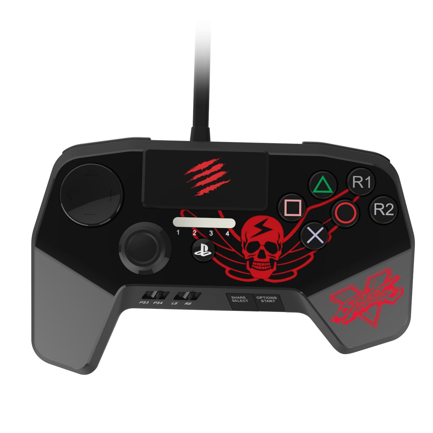 Mad Catz Street Fighter V FightPad PRO for PlayStation4 and PlayStation3 - Black by Mad Catz