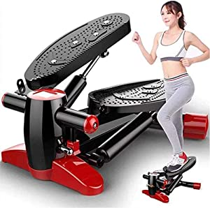 HGZ Mini Stepper Elliptical Machine Fitness Exercise Trainer with Non-Household Silent Twist Fitness Equipment, Shock Absorption Double Hydraulic Cylinder, Suitable for Living Room, Office