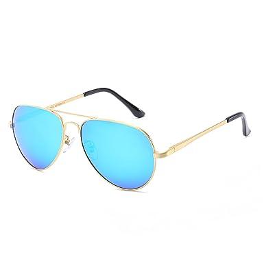Klassische Aviator polarisierte Sonnenbrille für Männer u. Frauen, die Blendschutz Vision/UV 400 Schutz fahren (Blau)