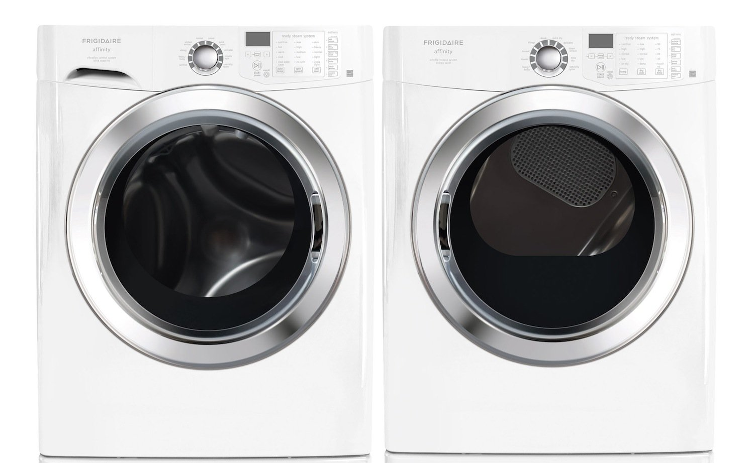 Amazon.com: Frigidaire Affinity White 3.9 Cu. Ft. Front Load Washer U0026 7.0  Cu. Ft. ELECTRIC Dryer W/Ready Steam FAFS4073NW_FASE7073NW: Appliances