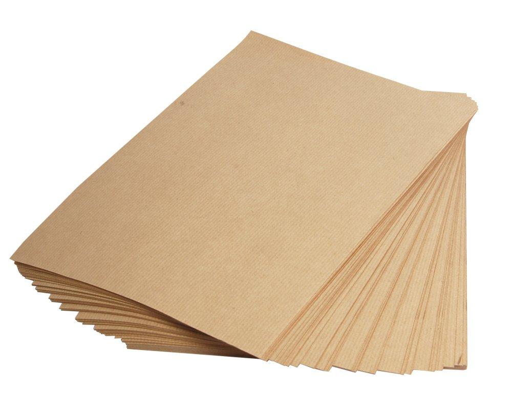 Clairefontaine 37108C Packung mit 250 Blatt Kraftpapier 90g, DIN A4, 21 x 29,7 cm, ideal f/ür Kunstprojekte und zum Einpacken braun
