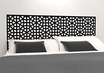 Moroccan Pattern Headboard Decal - Geometric Pattern Vinyl Wall Sticker -  Removable Bedroom Decor - Inspired by Morocco - Headboard Wall Graphic  (Twin ...