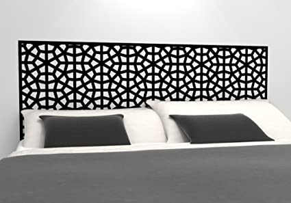 Moroccan Pattern Headboard Decal   Geometric Pattern Vinyl Wall Sticker    Removable Bedroom Decor   Inspired