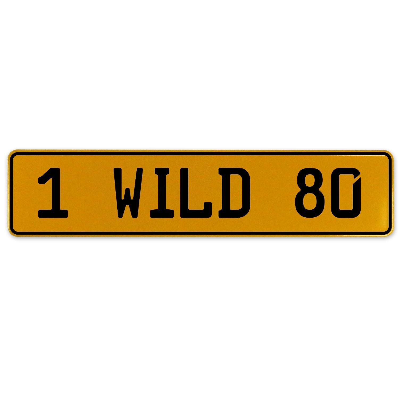 Vintage Parts 561014 1 Wild 80 Yellow Stamped Aluminum European Plate