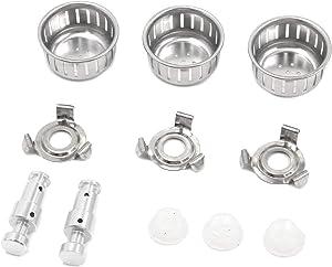 Tulead Pressure Cooker Replacement Parts Float Valve,Float Valve Gasket,Anti-Block Shield,Bracket