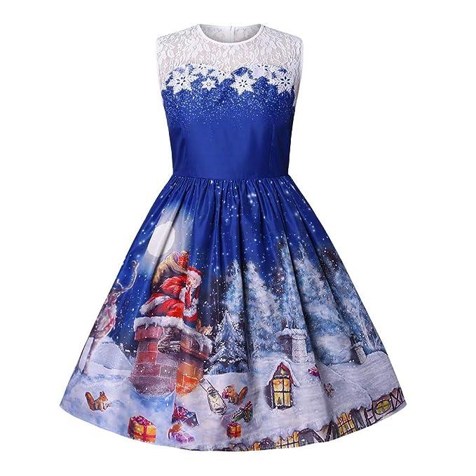 cfcca43253a Fenverk Kleider Damen Rockabilly Kleid Elegante Kleider Lange Kleider Frauen  Sommer Festliche Damenkleider Knielang - Damen