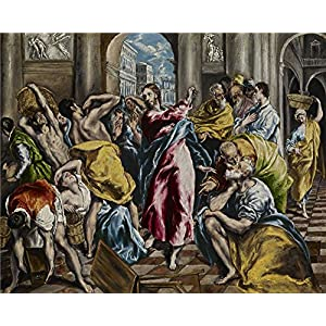 Oil Painting 'El Greco (Domenikos Theotokopoulos) - Purification Of The Temple, C. 1600' 24 x 30 inch / 61 x 76 cm , on High Definition HD canvas prints, gifts for Foyer, Gym And Home Office decor