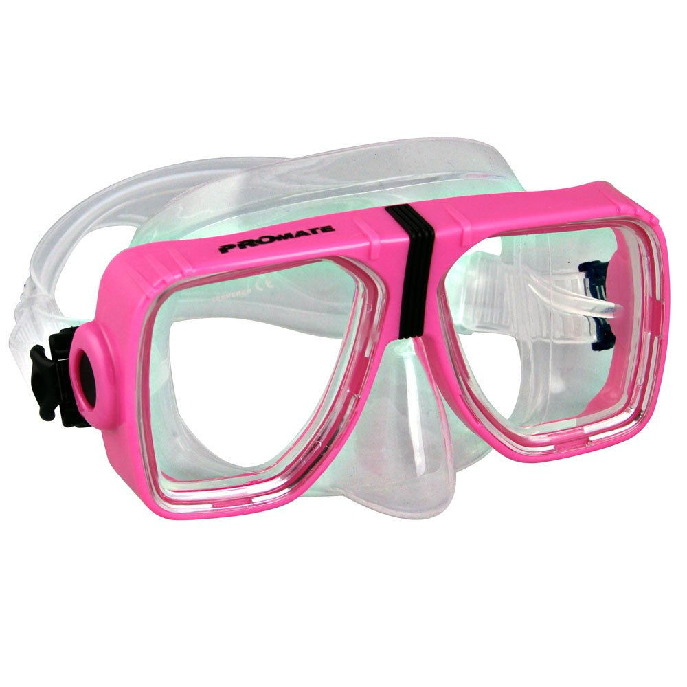 Promate Optical Corrective Scuba Snorkeling Mask, Pink, Nearsight-4.0 by Promate