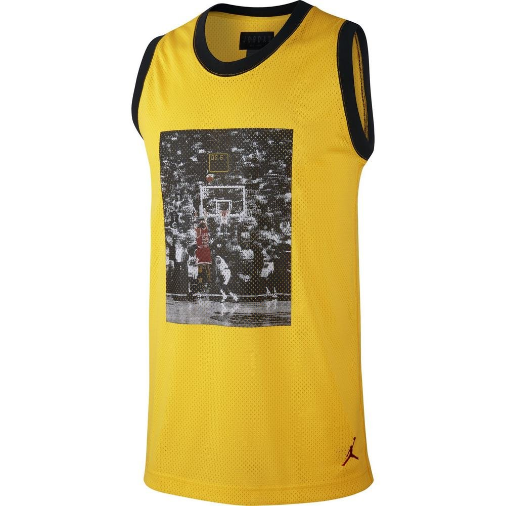 Jordan Tank Top – Sportswear Last Shot Mesh Gelb Schwarz Rot Größe  XS (X-Small)