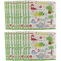Baosity Pack of 40pcs Dinosaurs Disposable Paper Napkin Party Table Decoration